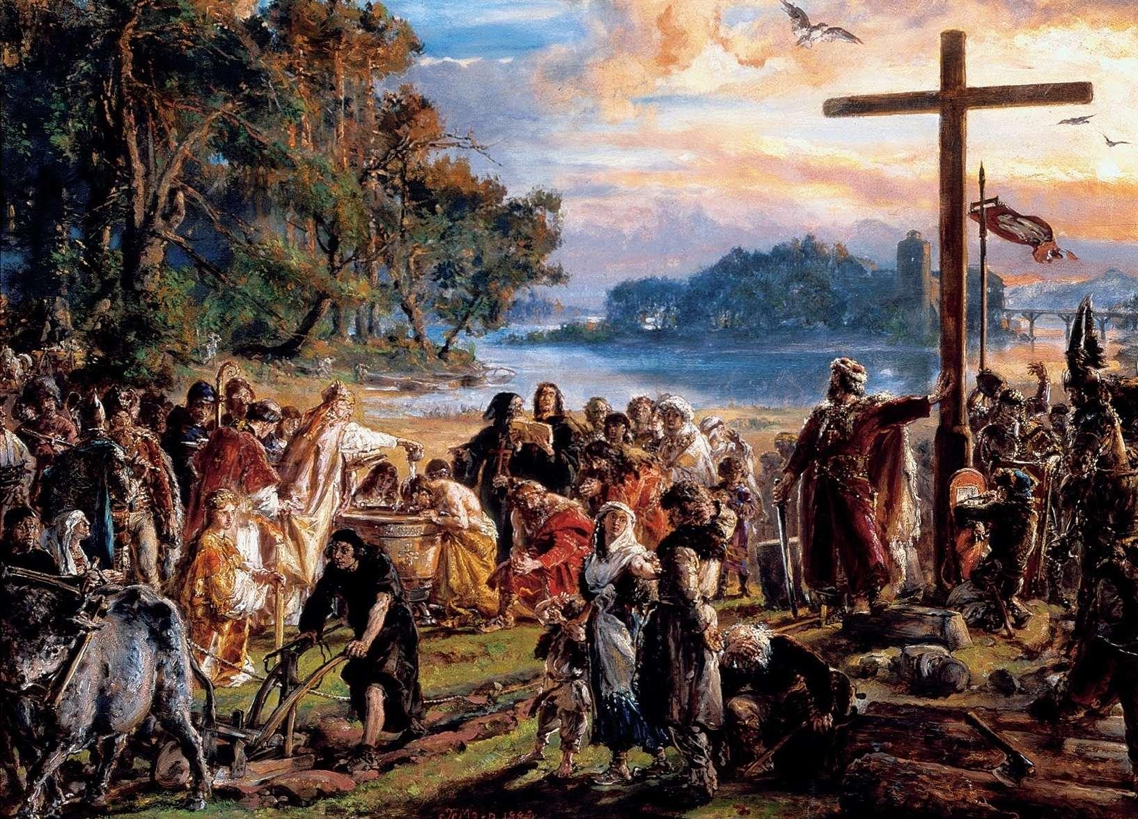 Γιαν Ματέικο (Jan Matejko, 1838 – 1893) Ο εκχριστιανισμός της Πολωνίας το 965 μ.Χ. (1889)