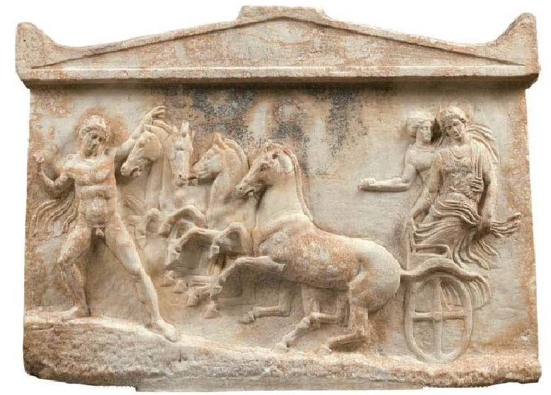 Αναθηματικό αμφίγλυφο. 410 π.Χ. Αρχαιολογικό Μουσείο Αθηνών