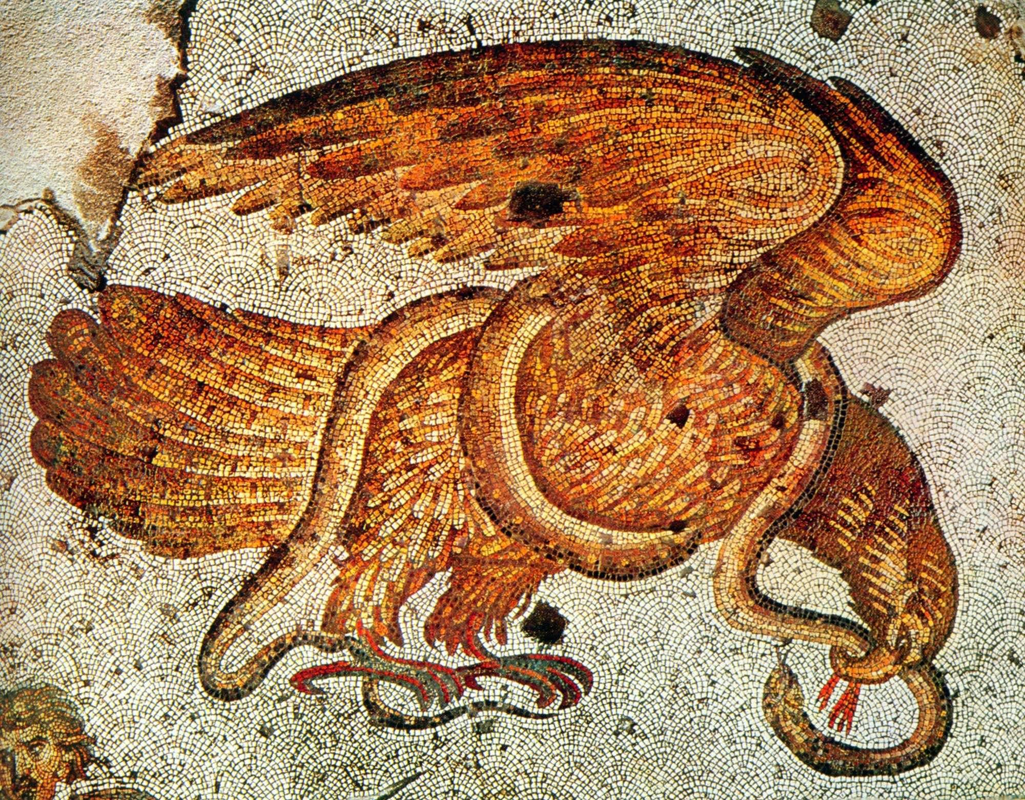 Βυζαντινό ψηφιδωτό από το παλάτι της Κωνσταντινούπολης. 6ος αιώνας μ.Χ.