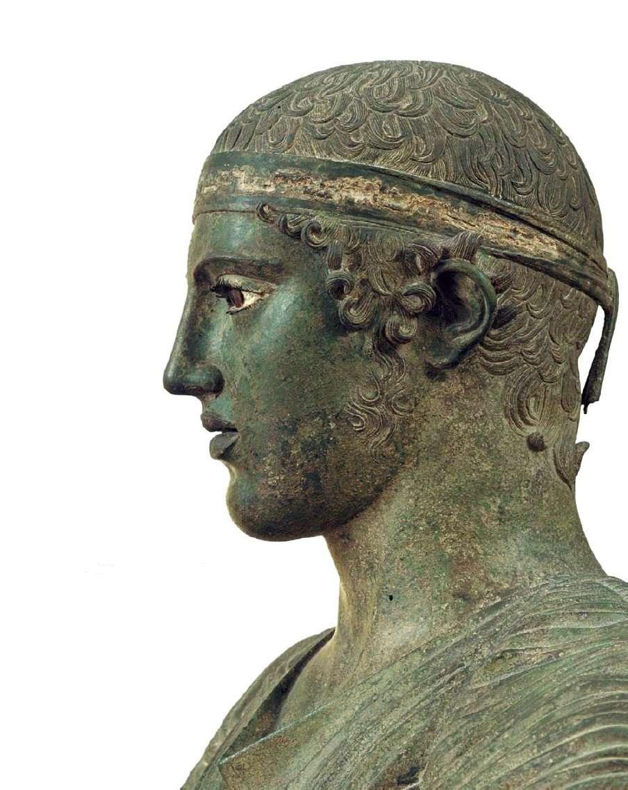 Ο Ηνίοχος των Δελφών, λεπτομέρεια. Αρχαιολογικό Μουσείο Δελφών