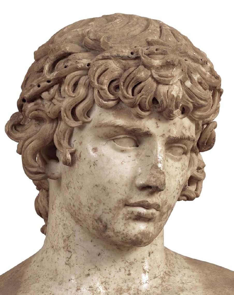 Το κεφάλι από το άγαλμα του Αντινόου. 130-138 μ. Χ. Αρχαιολογικό Μουσείο Δελφών