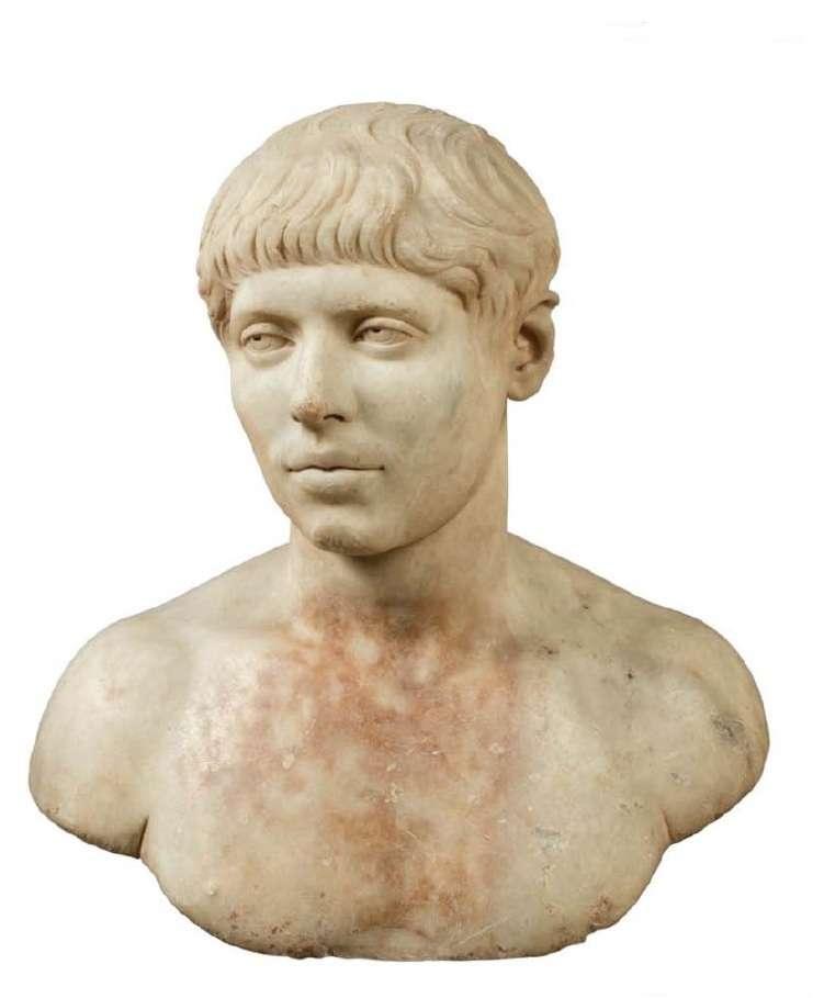 Εικονιστική κεφαλή νέου. Βρέθηκε στην Αθήνα, νότια της Ακρόπολης. 230-240 μ.Χ. Εθνικό Αρχαιολογικό Μουσείο Αθηνών