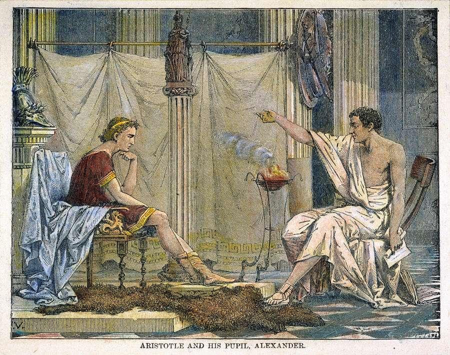 Ο Αλέξανδρος και ο δάσκαλος του, Αριστοτέλης