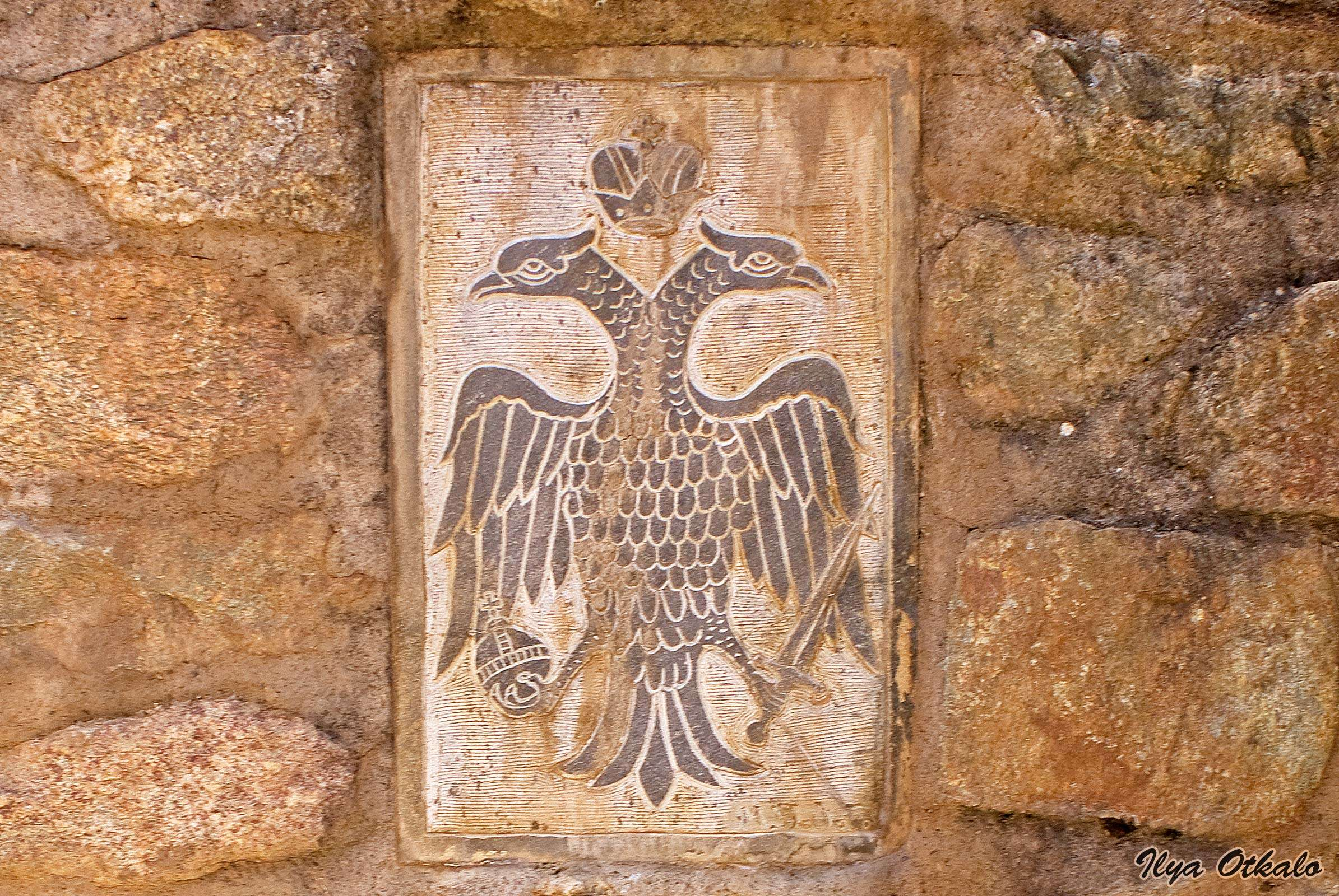 Βυζαντινός αετός στο μοναστήρι των Μετεώρων