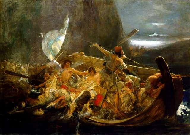 «Μετά την καταστροφή των Ψαρών». Έργο του Νικόλαου Γύζη.