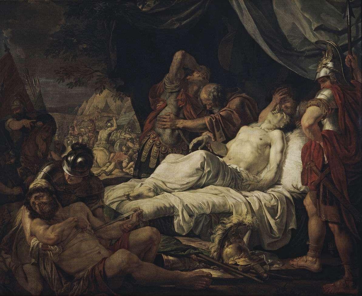 Ο θάνατος του Πελοπίδα, πίνακας του Αντρέι Ιβάνοφ (1805-1806)