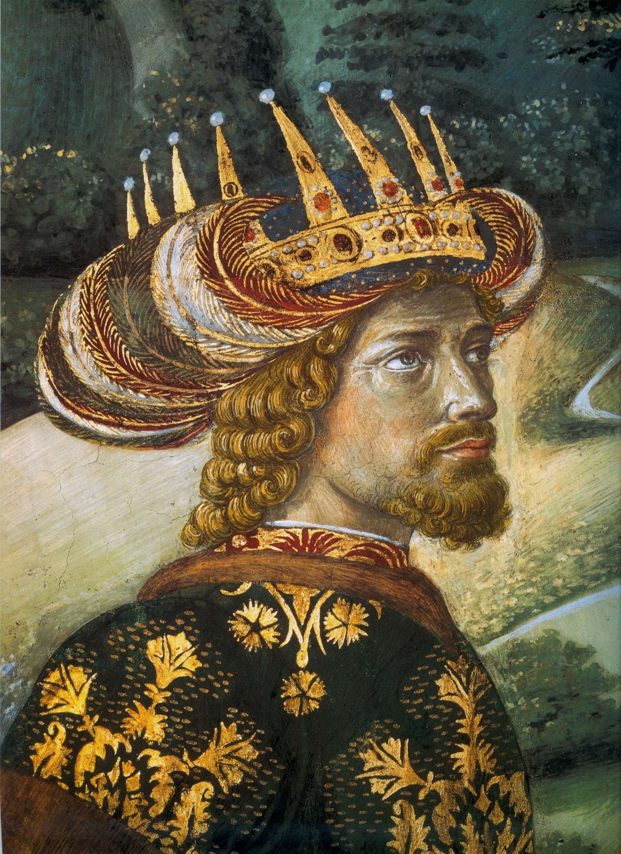 Ο Αυτοκράτωρ Ιωάννης Η΄ Παλαιολόγος σε τοιχογραφία του B. Gozzoli στο Παλάτι των Μεδίκων στη Φλωρεντία
