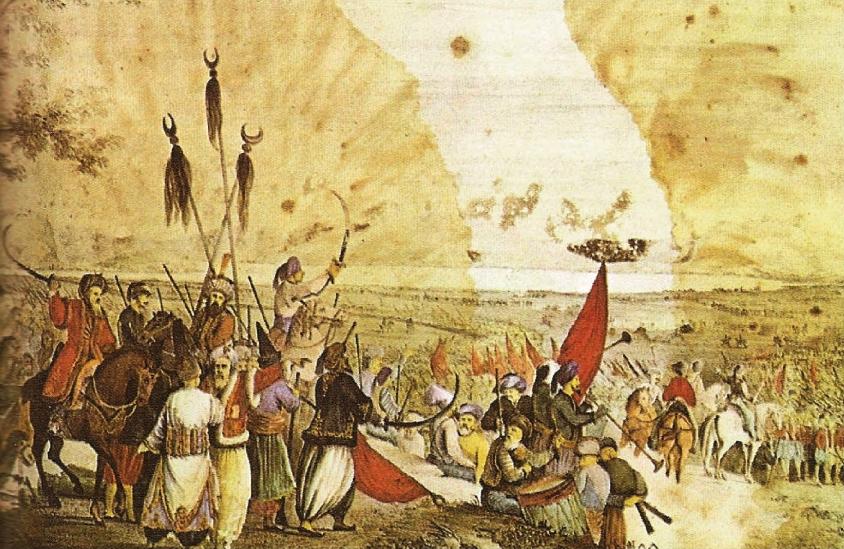 Αλέξανδρος Ησαΐας. Η εκστρατεία του Δράμαλη στην πεδιάδα του Άργους. Εθνικό Ιστορικό Μουσείο. Αθήνα