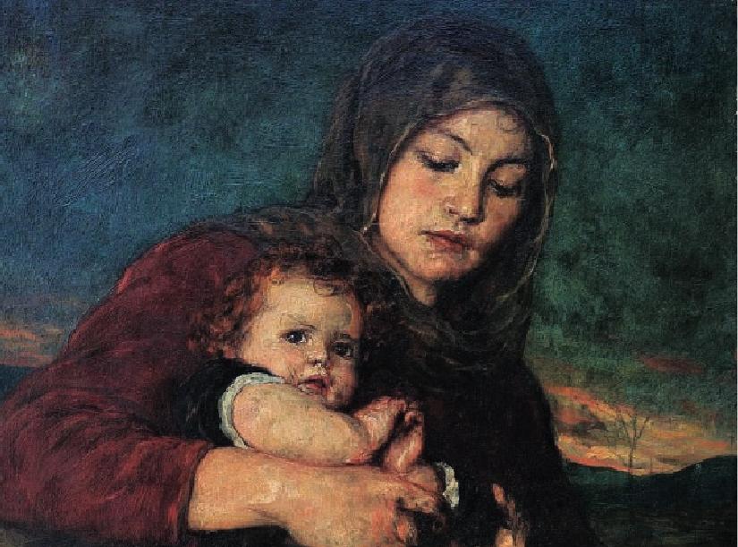 Νικόλαος Γύζης (1842-1901) - Μάνα με παιδί.