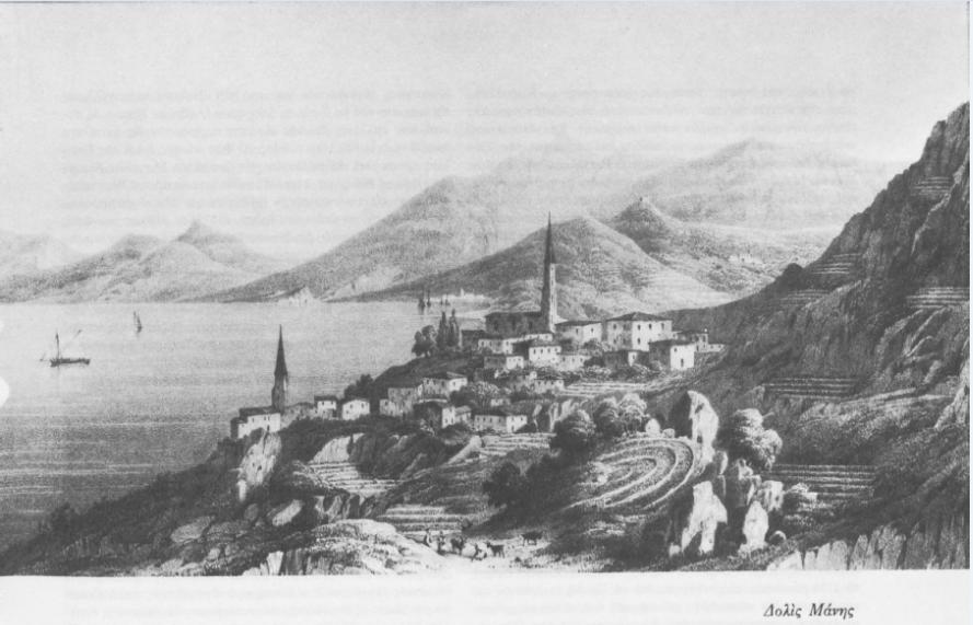 Η Μάνη τον 18ο αιώνα. (Πηγή: Δ. Κόκκινος, Επίτομη ιστορία της Ελληνικής Επανάστασης)
