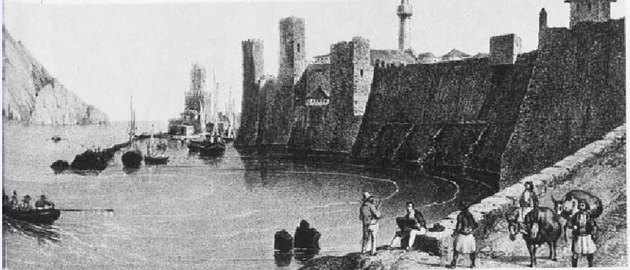 Η Μεθώνη στα τέλη του 18ου αιώνα. (Πηγή: Δ. Κόκκινος, Επίτομη ιστορία της Ελληνικής Επανάστασης)