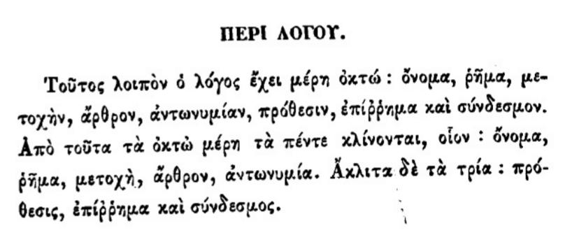 Τα μέρη του λόγου. Νικόλαος Σοφιανός - Γραμματική της κοινής των Ελλήνων γλώσσης