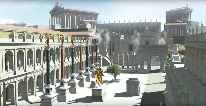 Ψηφιακή αναπαράσταση της Ρώμης του 320 μ.Χ.