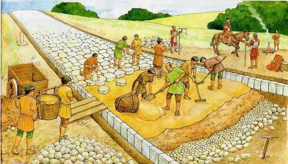 Κατασκευή ρωμαϊκής οδού (αναπαράσταση)