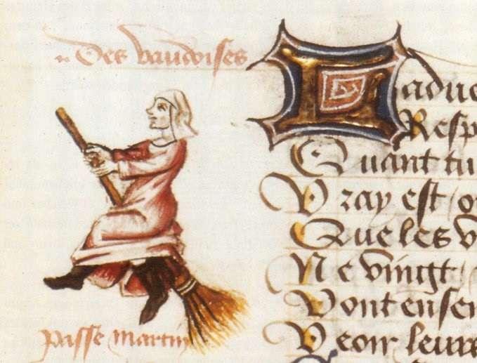 Η πρώτη απεικόνιση μάγισσας σε σκουπόξυλο και η προέλευση του μύθου