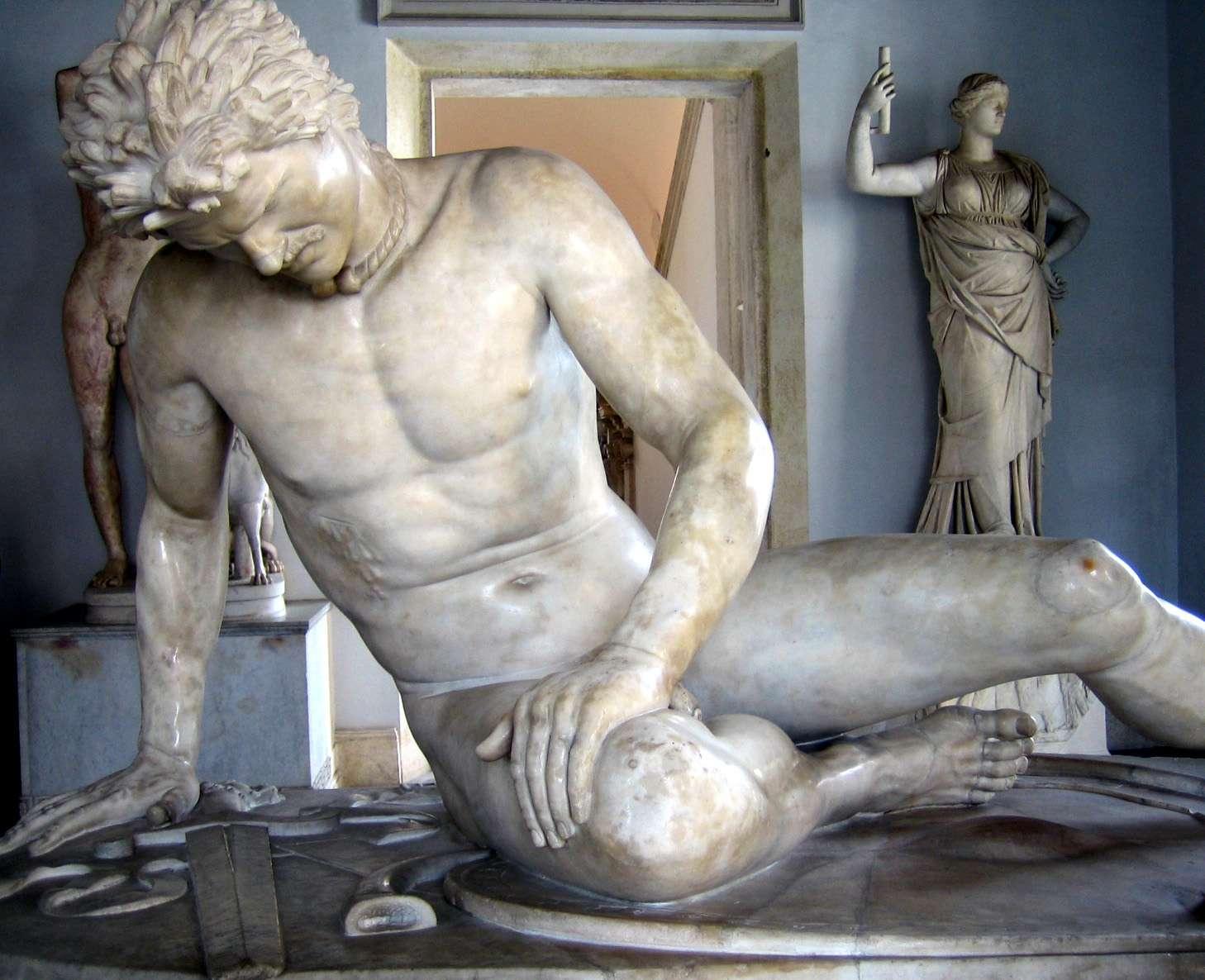 """""""Ο Θνήσκων Γαλάτης"""", Ρωμαϊκό μαρμάρινο αντίγραφο Ελληνιστικού έργου, Musei Capitolini, Ρώμη"""