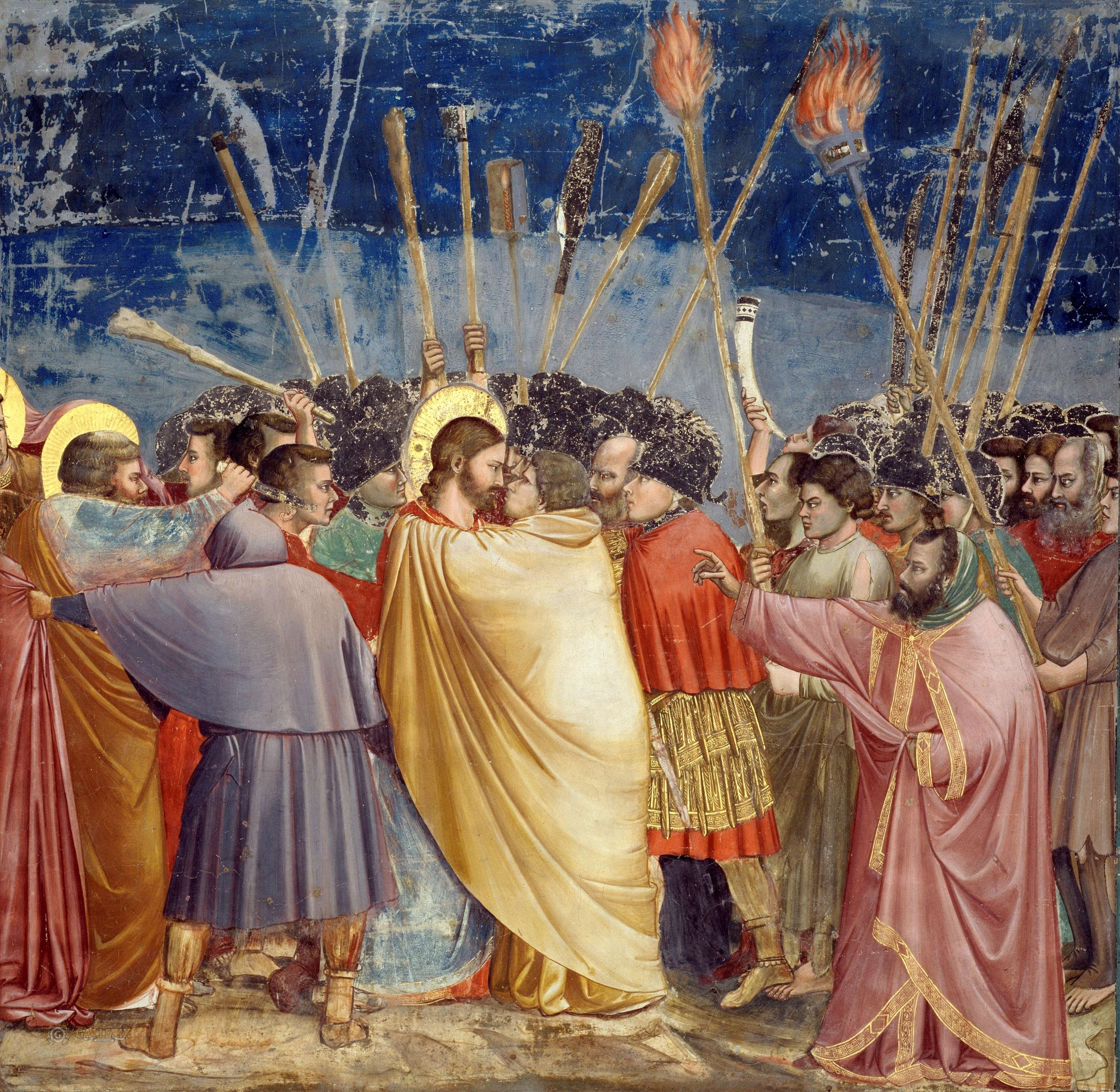 Giotto di Bondone.. Το φιλί του Ιούδα, Παρεκκλήσιο Scrovegni