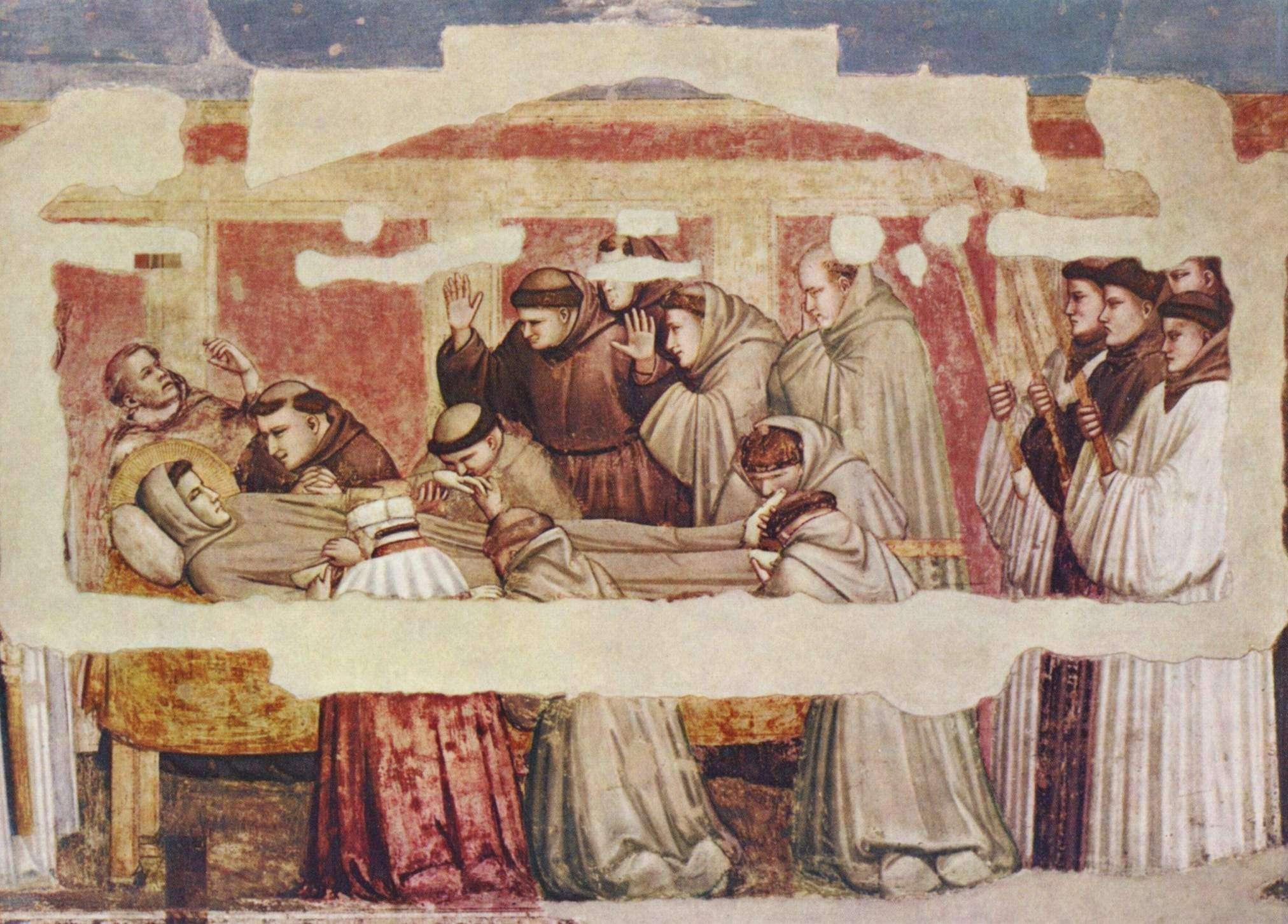 Giotto di Bondone. Ο θάνατος του Αγ. Φραγκίσκου (Παρεκκλήσι Bardi)