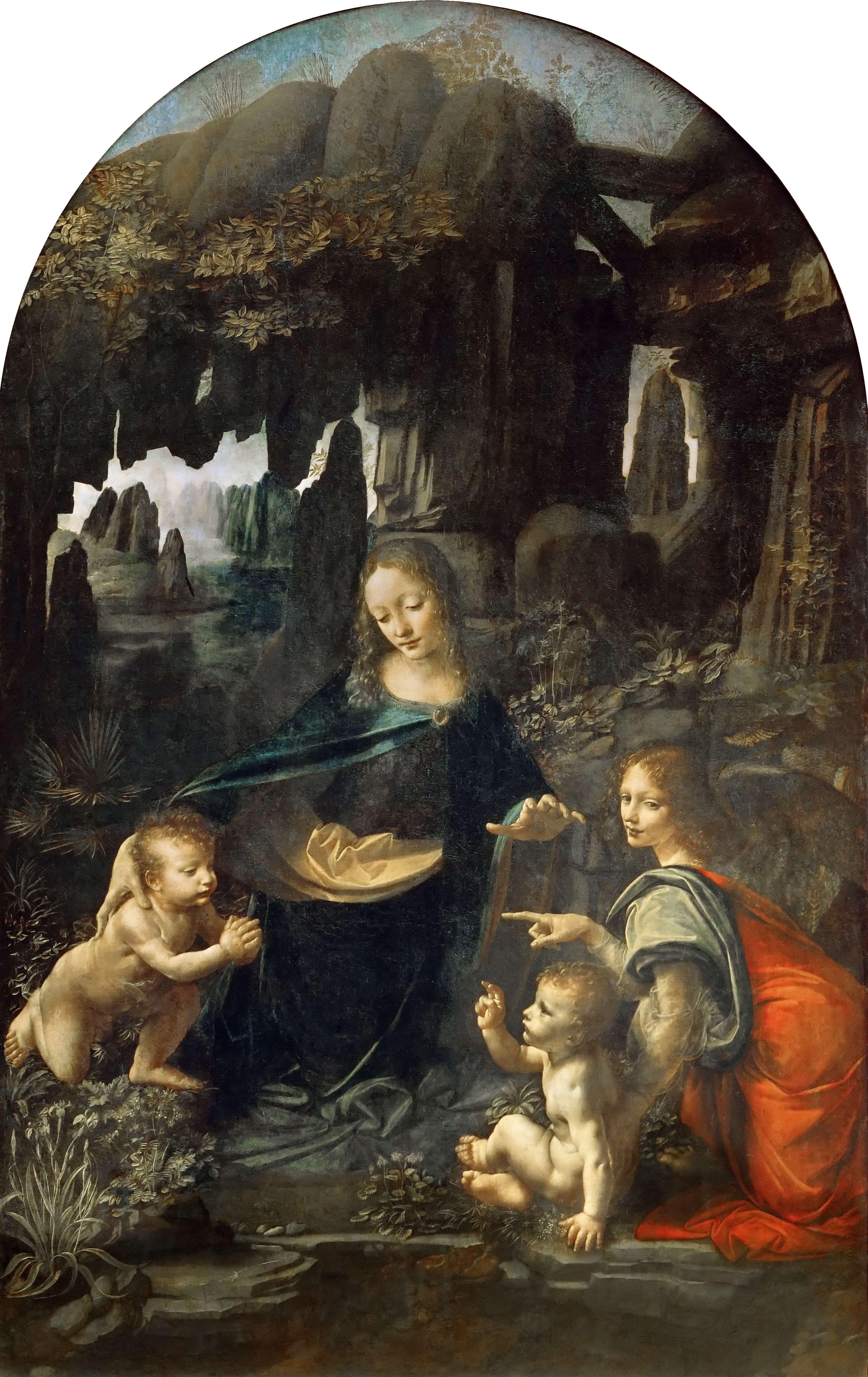 Λεονάρντο ντα Βίντσι. - Η Παναγία των Βράχων Vergine delle Rocce (Η εκδοχή του Λούβρου)