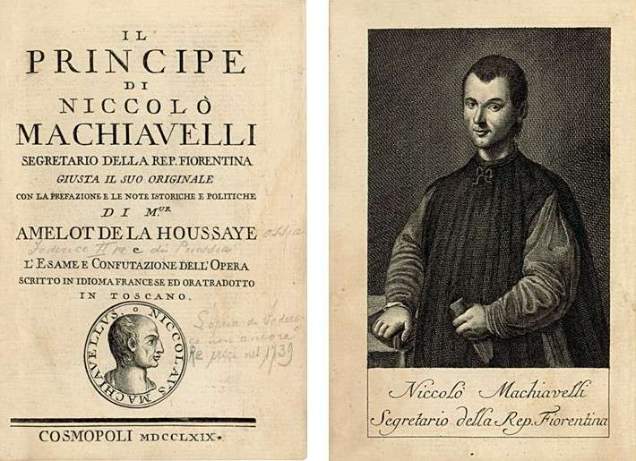 """Ο Νικολό Μακιαβέλι σε παλιά έκδοση του """"Ηγεμόνα"""""""