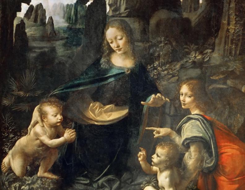 Λεονάρντο ντα Βίντσι. - Η Παναγία των Βράχων, Vergine delle Rocce. (Η εκδοχή του Λούβρου)
