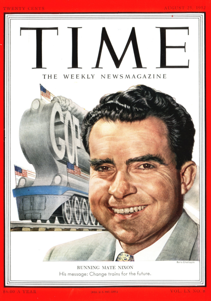 Ο Ρίτσαρντ Μίλχους Νίξον ([Richard Milhous Nixon, 9 Ιανουαρίου 1913 - 22 Απριλίου 1994) ήταν Αμερικανός πολιτικός, ο οποίος υπηρέτησε ως ο 37ος πρόεδρος των Ηνωμένων Πολιτειών από το 1969 έως το 1974, όταν και έγινε ο πρώτος Αμερικανός πρόεδρος που παραιτήθηκε από το αξίωμά του. Εξώφυλλο του περιοδικού TIME