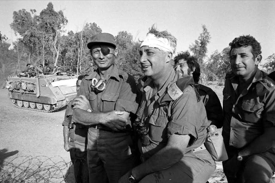 Ο Αριέλ Σαρόν και ο Μοσέ Νταγιάν στον πόλεμο του Γιομ Κιπούρ