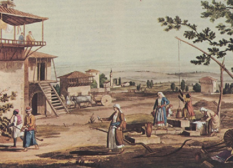 Σκηνή από αγροτική περιοχή της τουρκοκρατούμενης Ελλάδας. Αθήνα. Γεννάδειος Βιβλιοθήκη
