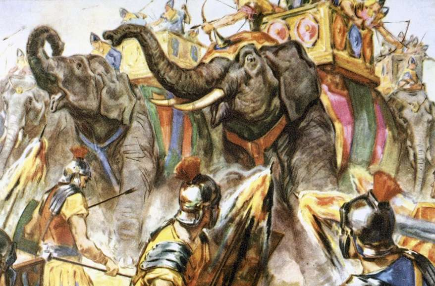BMW4AK Punic War. Hannibal defeated the Roman legions met him in Spain, and crossed the south of France.
