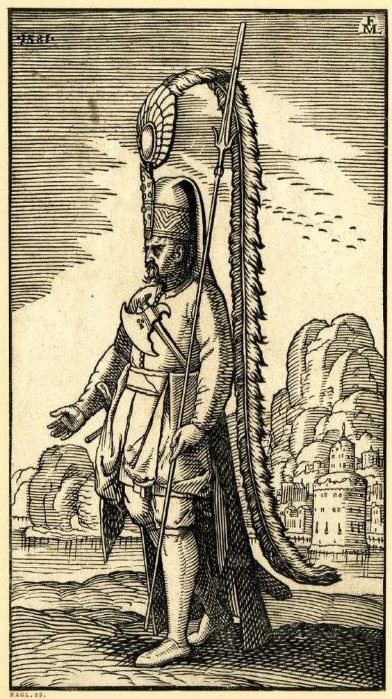 """Γενίτσαρος. """"Tyrkerværk"""" (The Turkish Publication) of Melcior Lorck (1576)"""