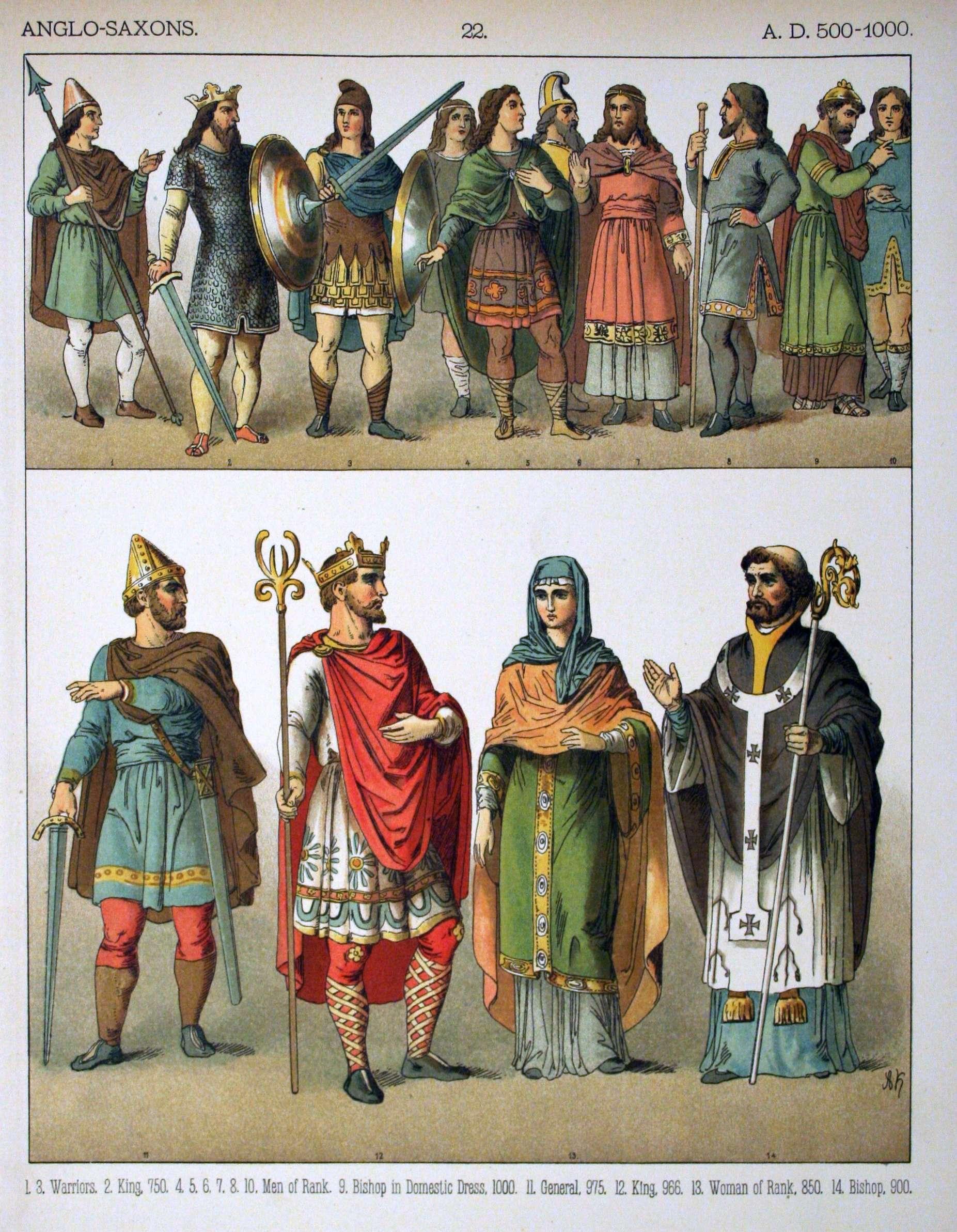 Αγγλοσάξονες, 500-1000 μ.Χ.