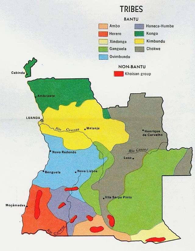 Οι εθνοτικές ομάδες της Ανγκόλας