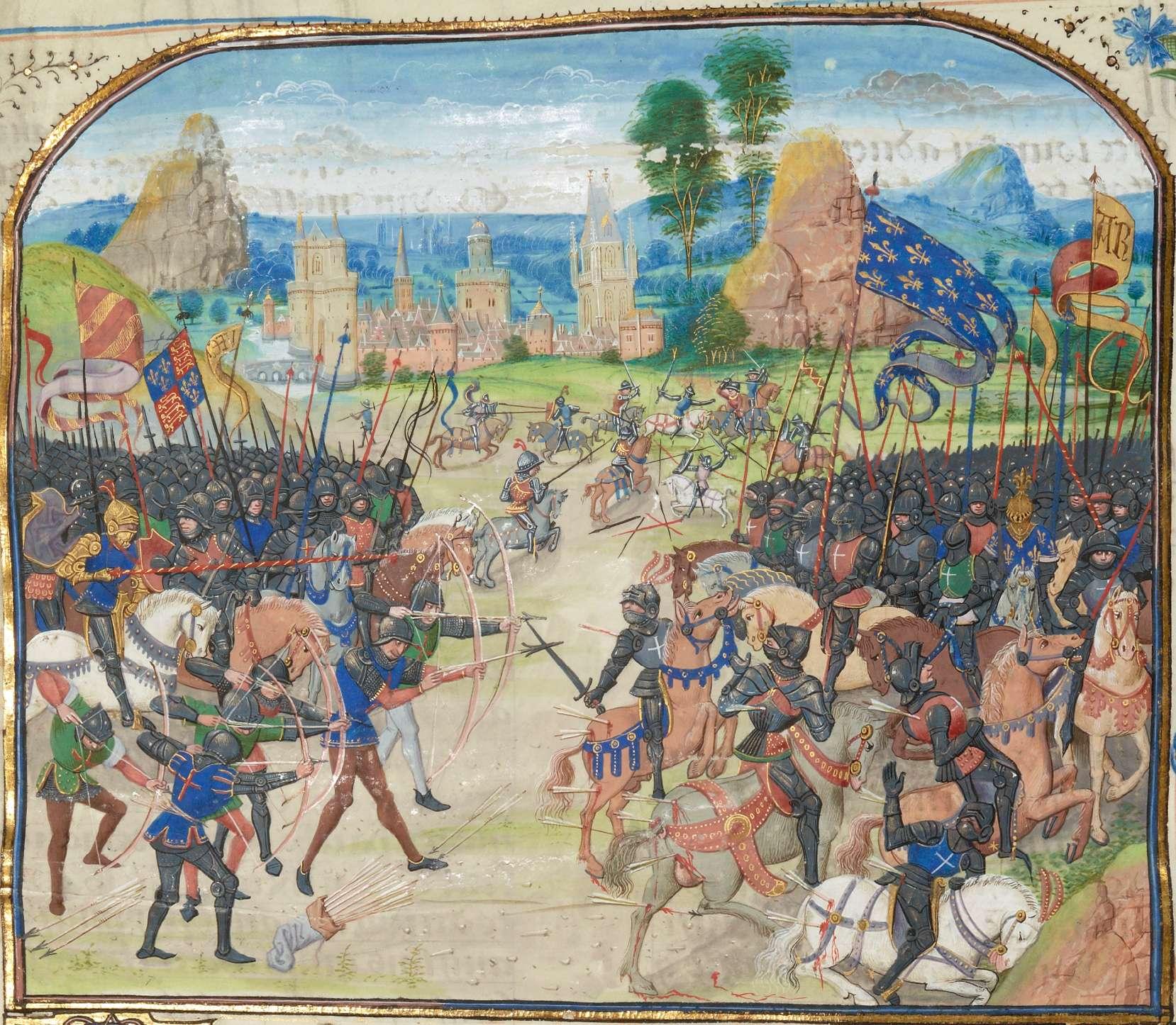 Η μάχη του Πουατιέ (1356). La bataille de Poitiers, Chroniques de Froissart