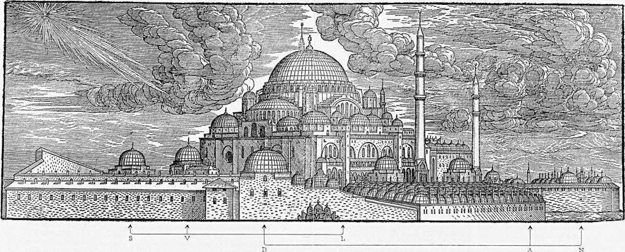 Ο ναός της Αγίας Σοφίας στην Κωνσταντινούπολη. 1569, Melchior Lorck.