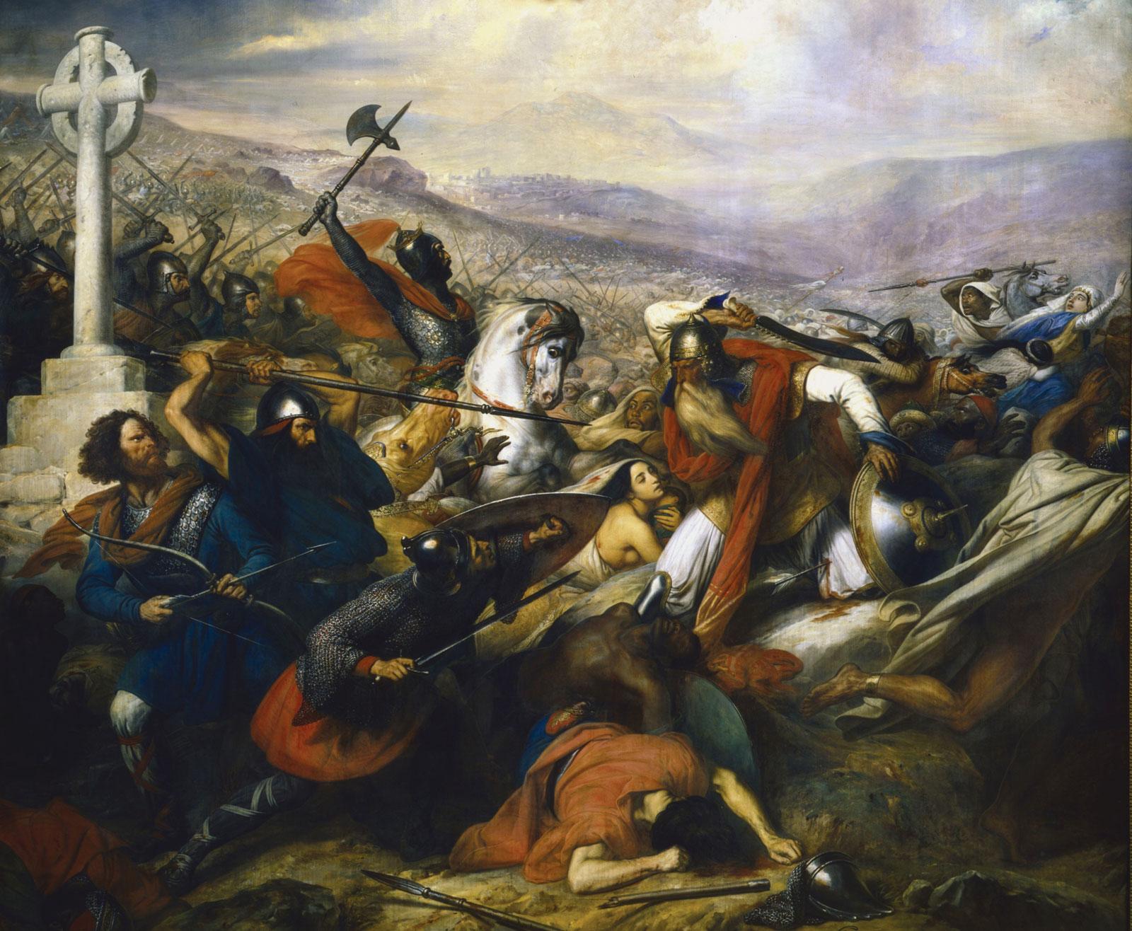 Έργο του ζωγράφου Charles de Steuben που απεικονίζει τη μάχη του Πουατιέ