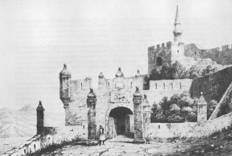 Η ενετική πύλη της Κορώνης γύρω στα 1800