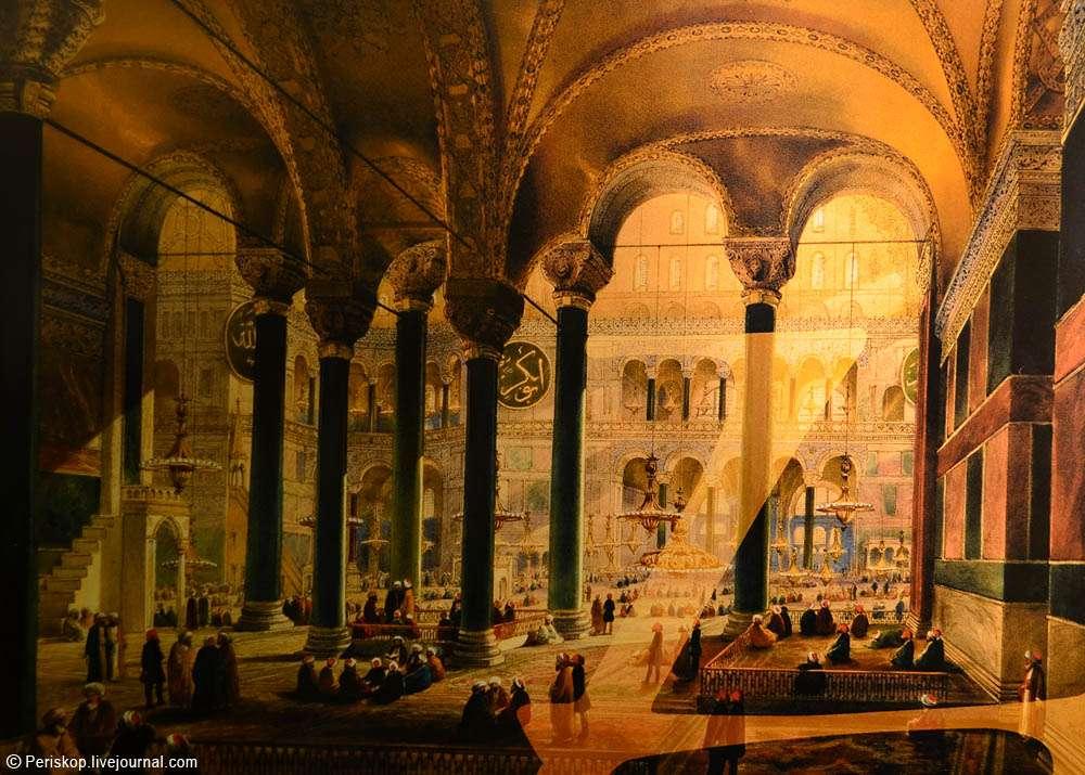 Η ναός της Αγίας Σοφίας μετατράπηκε σε τζαμί αμέσως μετά την Άλωση της Κωνσταντινούπολης