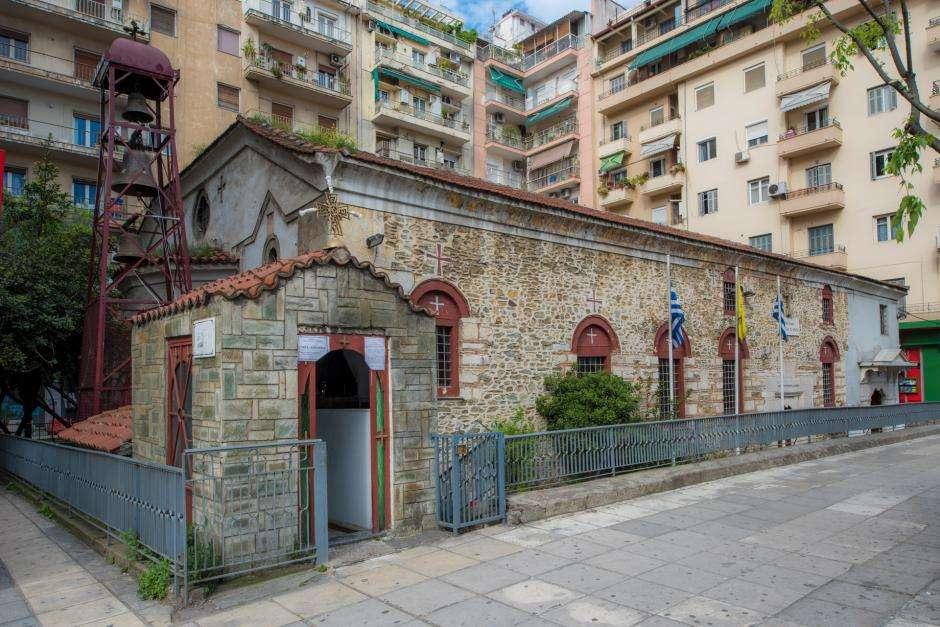 Θεσσαλονίκη. Ο ιερός ναός Υπαπαντής του Χριστού βρίσκεται στο κέντρο της πόλης, σε κοντινή απόσταση από την Καμάρα και απέναντι από τον ναό της Παναγίας Δεξιάς.