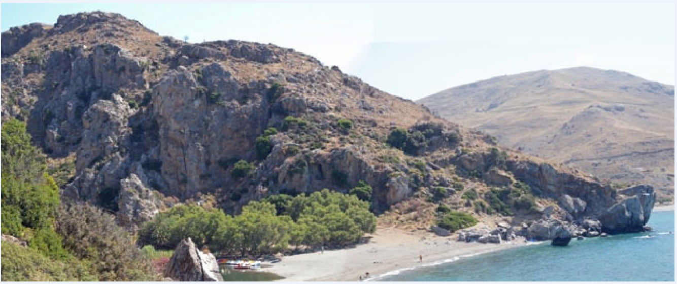 Η περιοχή Πλακιά - Πρέβελη στην Κρήτη όπου εντοπίσθηκαν ευρήματα 130.000 - 700.000 ετών
