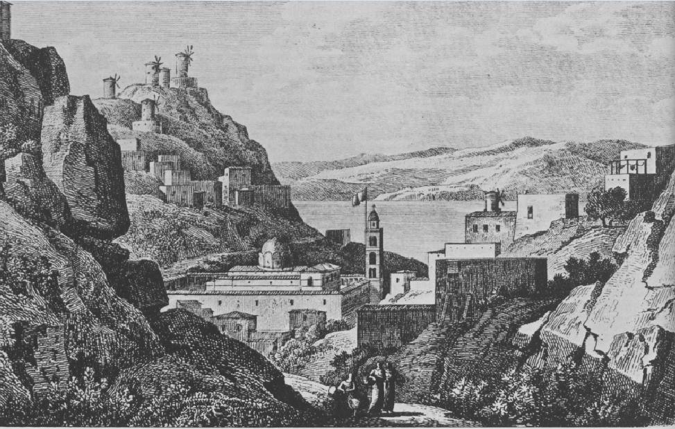 Η Ύδρα στις αρχές του 19ου αιώνα. Γεννάδειος Βιβλιοθήκη, Αθήνα