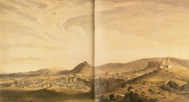 Πανόραμα της Αθήνας από τον λόφο του Αστεροσκοπείου (1843)