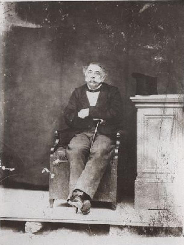 Νταγκεροτυπία του Φ. Μαργαρίτη με τον γηραιό Αλέξανδρο Μαυροκορδάτο