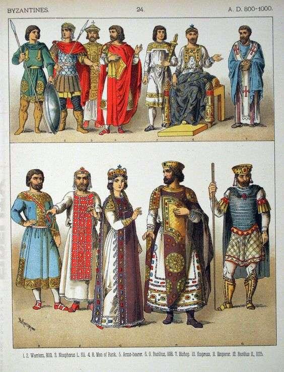 Βυζαντινές ενδυμασίες
