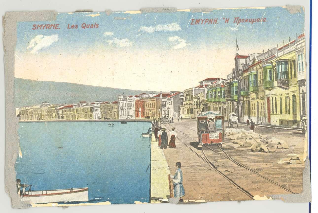 Η προκυμαία της Σμύρνης πριν την καταστροφή του 1922. Παλιά ταχυδρομική κάρτα