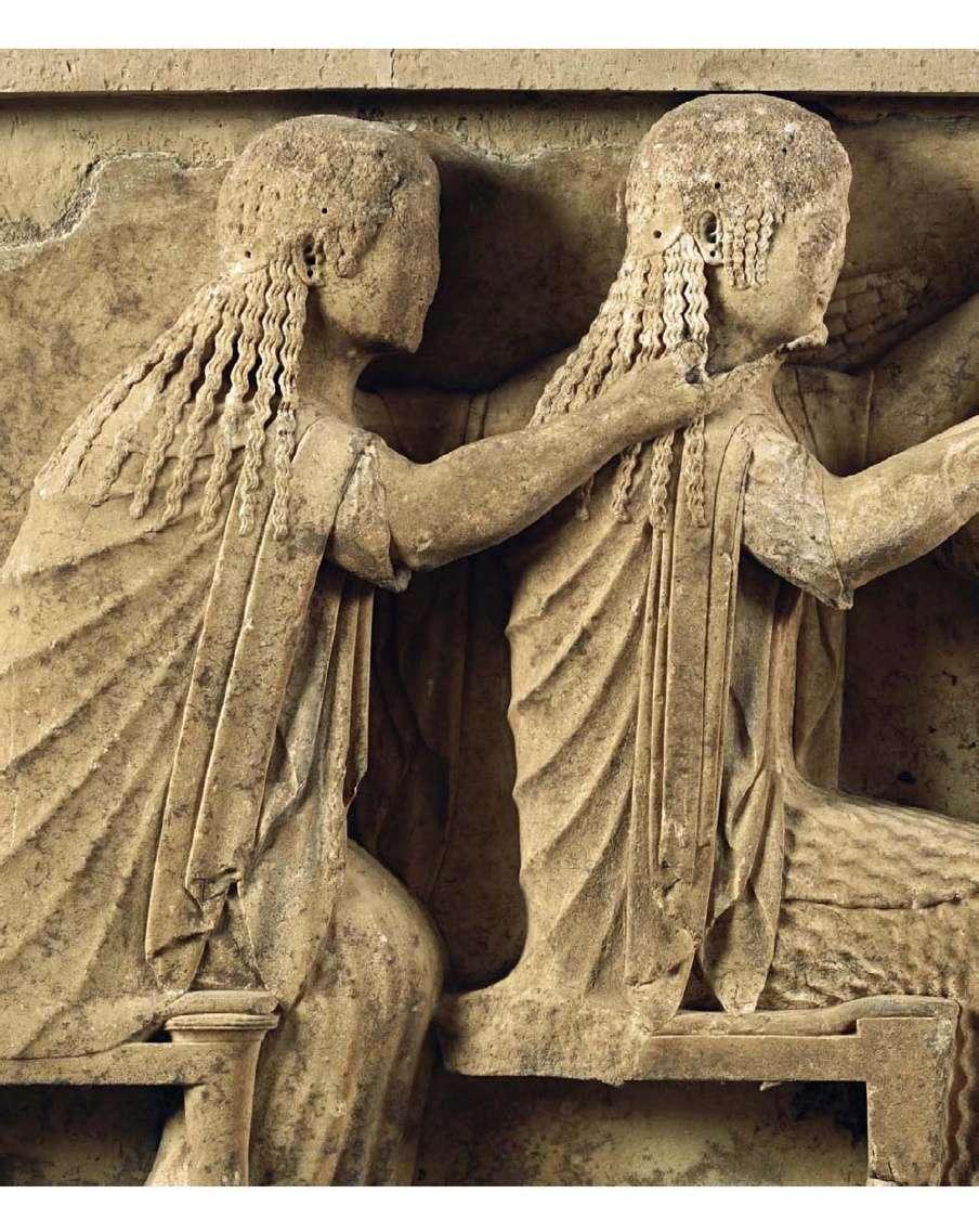 Λεπτομέρεια από την ανατολική ζωφόρο του θησαυρού των Σιφίων. 560 π.Χ. Αρχαιολογικό Μουσείο Δελφών