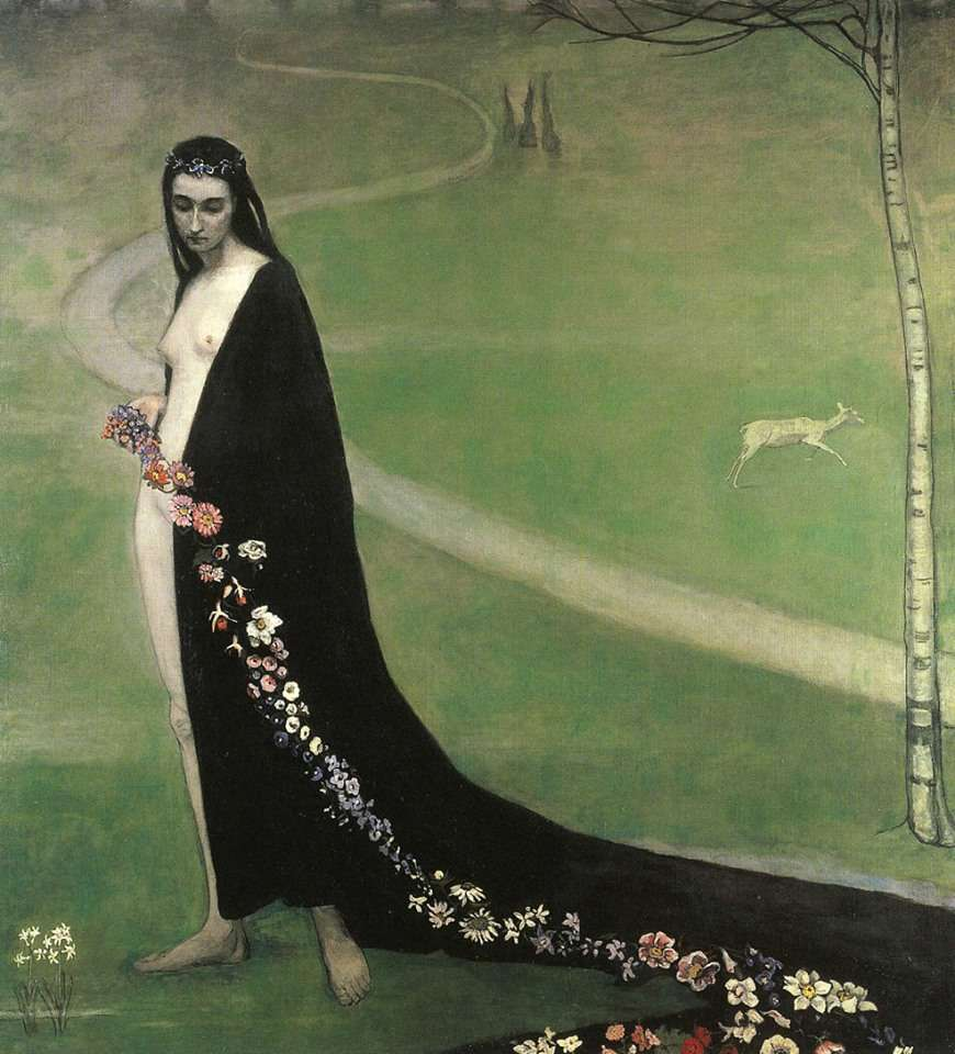 Romaine Brooks, Woman with flowers.