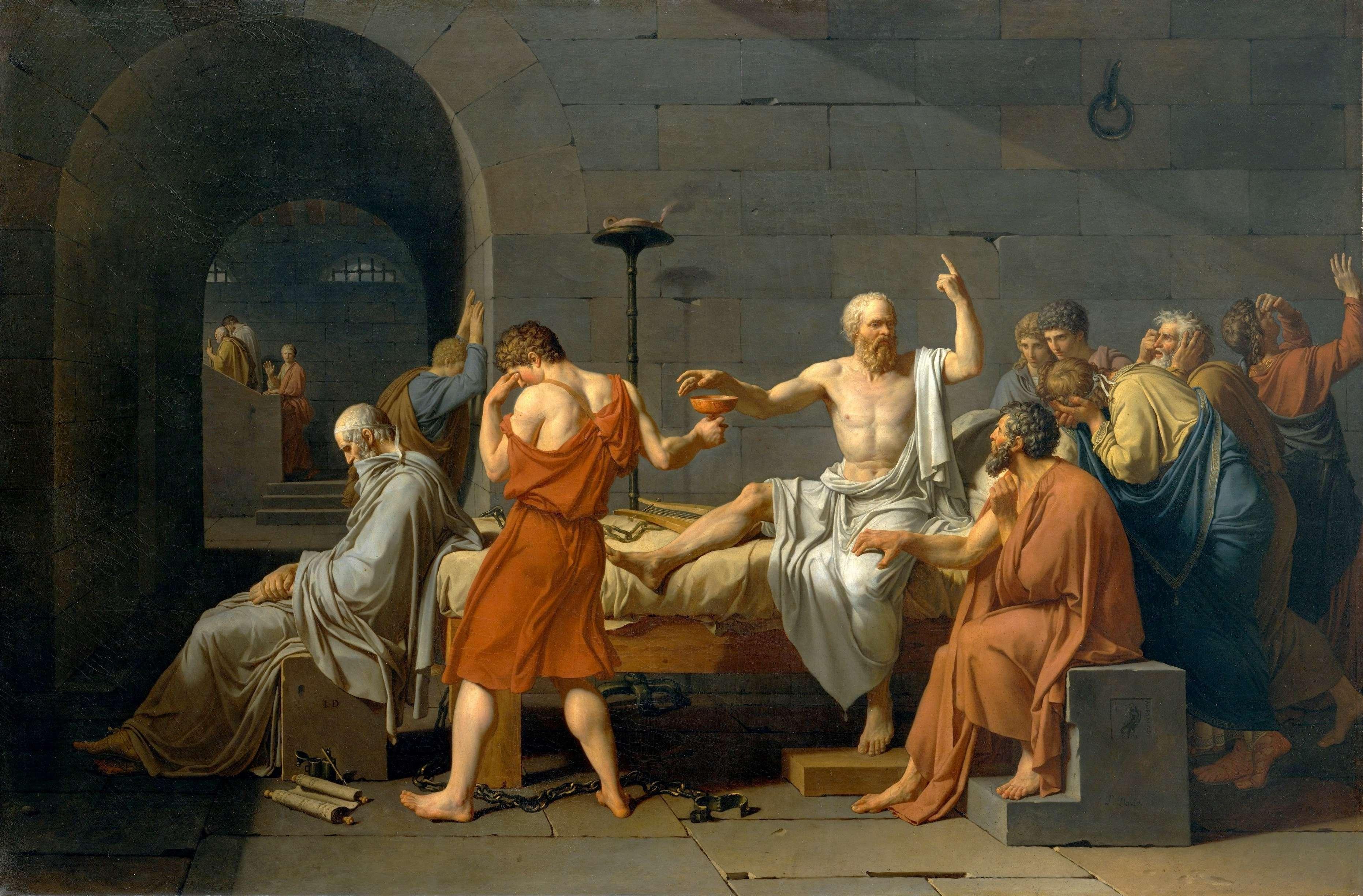 Πίνακας του Ζακ-Λουί Νταβίντ (1787) Ο Θάνατος του Σωκράτη