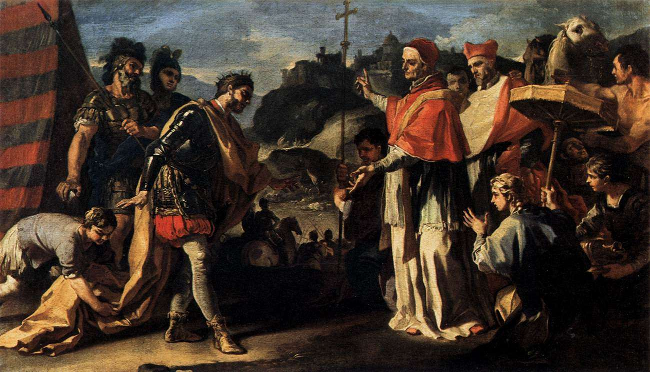 Francesco Solimena - Η συνάντηση του Πάπα Λέοντα και του Αττίλα
