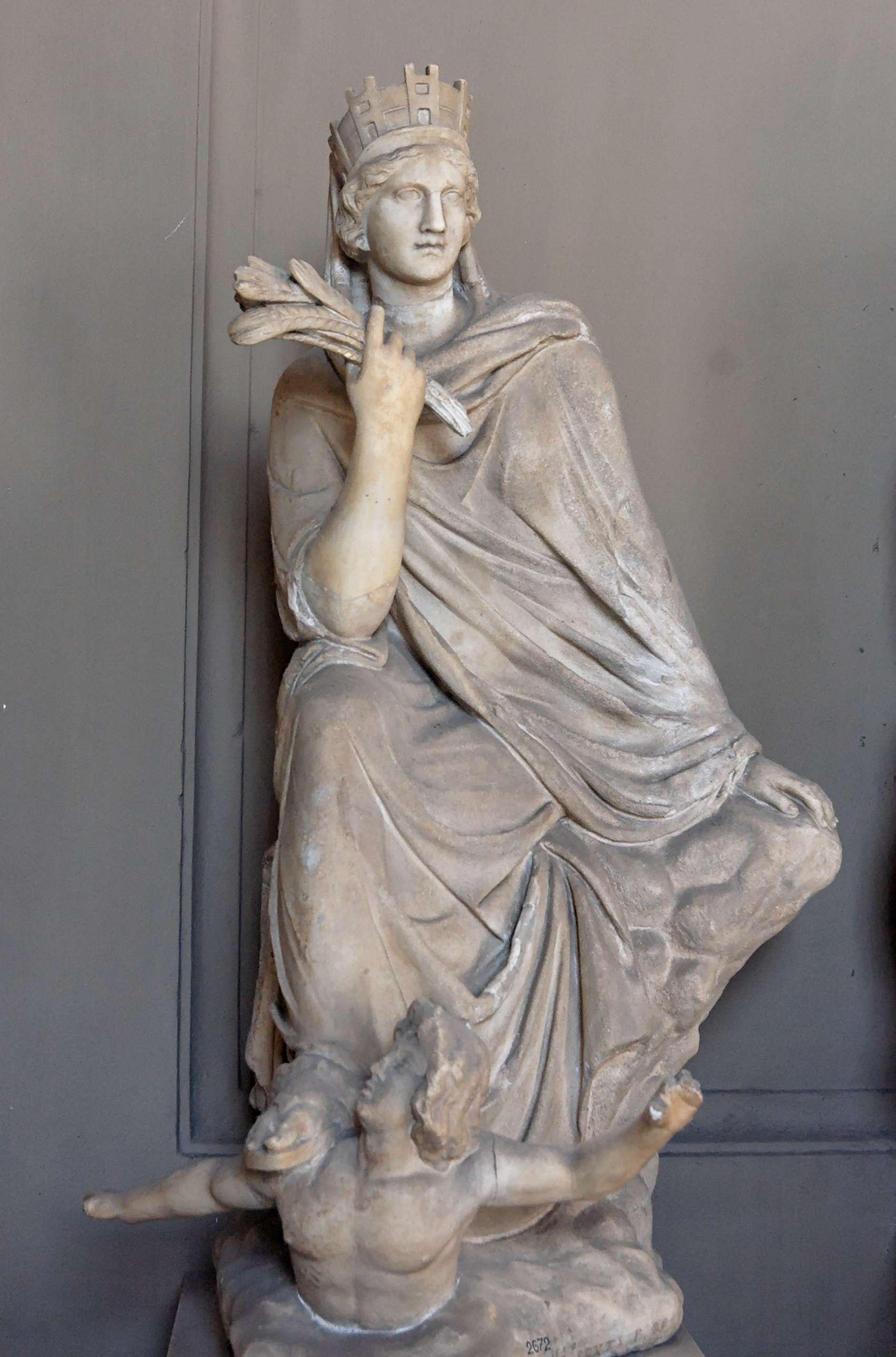 Η Τύχη είναι θεότητα της αρχαίας ελληνικής μυθολογίας, προσωποποίηση της ευμάρειας και του πλούτου μιας πόλης. Παριστάνονταν ως γυναίκα που κρατούσε συνήθως ενα μικρό παιδί, ένα στάχυ ή το κέρας της Αμαλθείας ως ένδειξη του πλούτου.