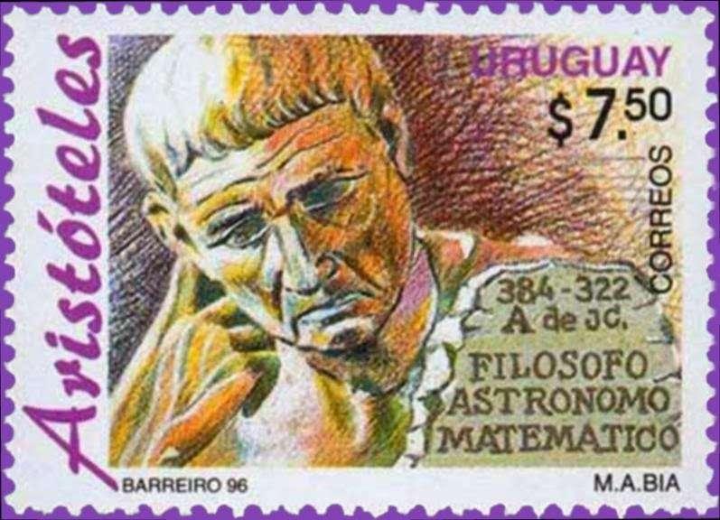 Ο Αριστοτέλης σε γραμματόσημο του 1996